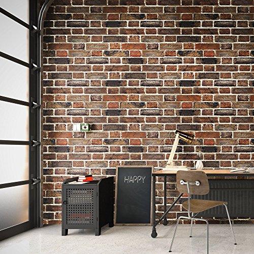 Selbstklebende Tapete Steinoptik, 3D-Effekt Möbelfolie, Wandtattoo Folie, abwaschbar (44x300cm), FANCY-FIX