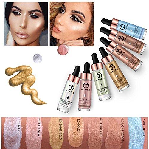 Alexsix 15ML Liquid Highlighter Make Up Cream Concealer Cosmetic Shimmer Face Glow Contour Brighten Makeup Base