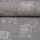 Die Stofftante Premier Prints/Canvas / Elefanten,
