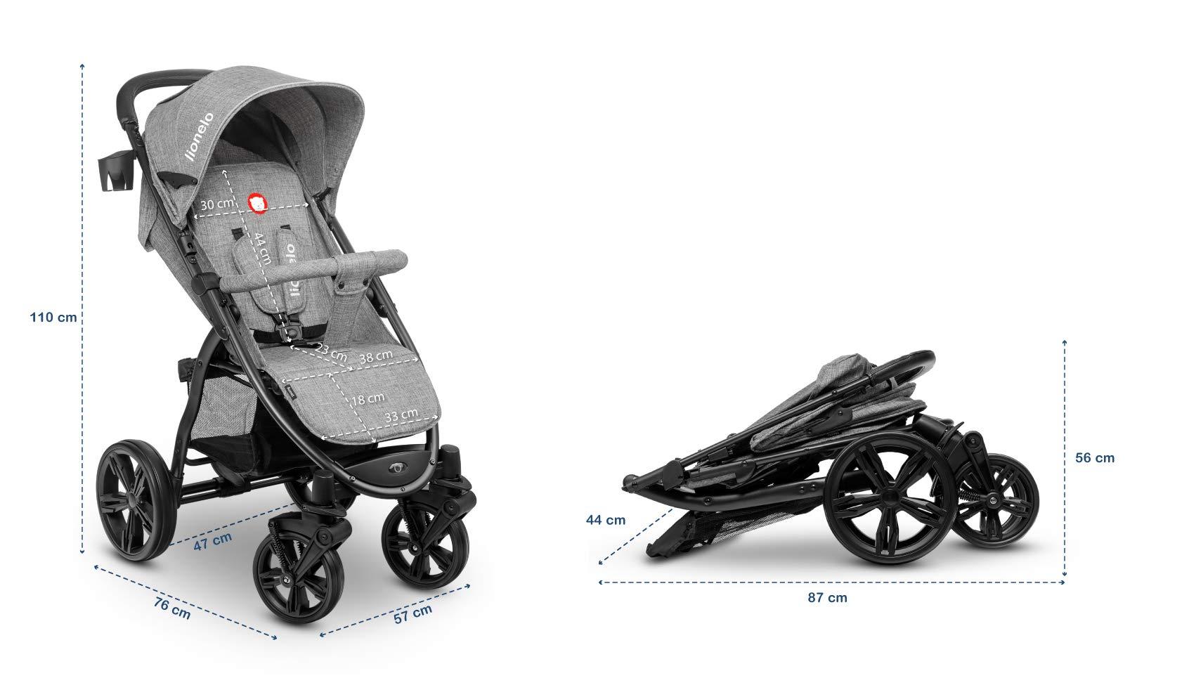 Lionelo 5902581656278 LO-Annet Concrete Stroller Pushchair (Light-Gray)   6