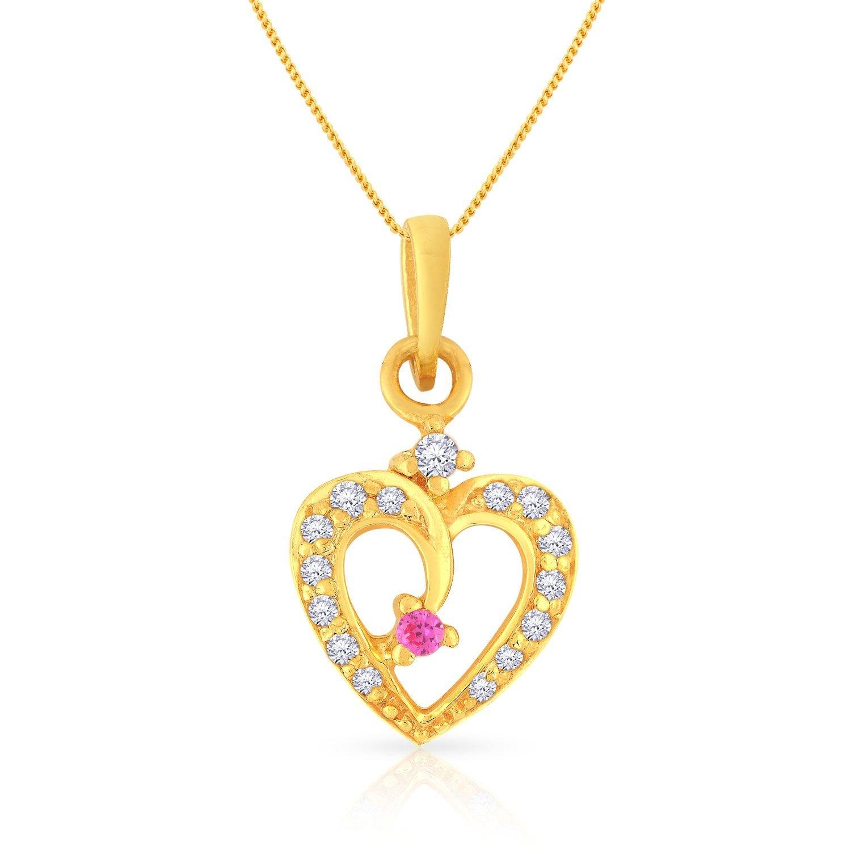 Malabar Gold and Diamonds 22KT Yellow Gold Pendant for Women - Gia Designer