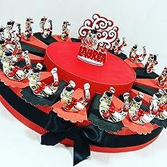 Idea Regalo - bomboniere Laurea Gufo su Staffa di Cavallo Completi di Torta portaconfetti e Confetti Rossi APR