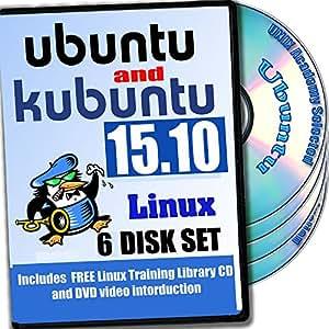 Ubuntu And Kubuntu Linux 15.10, 6-Disks DVD Installation And Reference Set