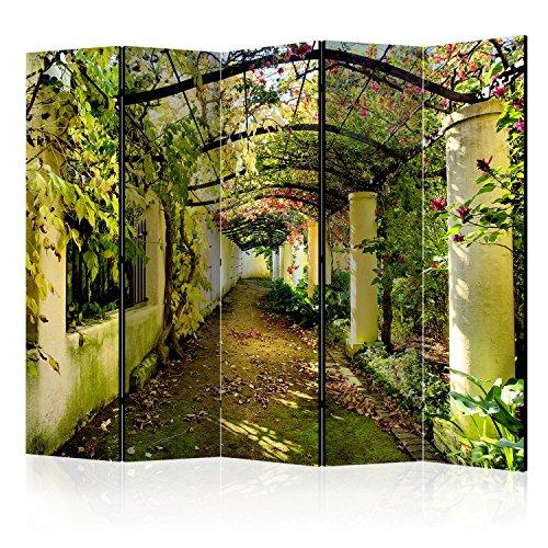 murando - Raumteiler Pergola Natur - Foto Paravent 225x172 cm - beidseitig auf Vlies-Leinwand...