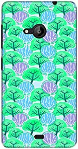 The Racoon Grip printed designer hard back mobile phone case cover for Microsoft Lumia 535. (Grenn Tree)