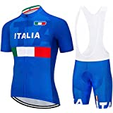 SUHINFE Abbigliamento Ciclismo Uomo, Completo Maglia Ciclismo con Pantaloni Corti da Ciclismo Asciugatura Asciugatura Rapida