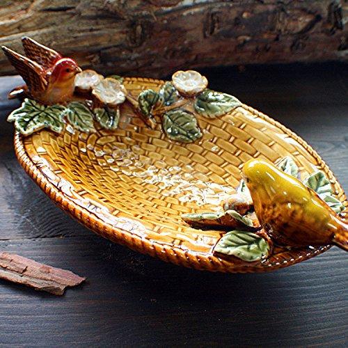 Wangyi Plateau en céramique de Fruits séché Plat Multi-usages, 22 * 13 * 8cm