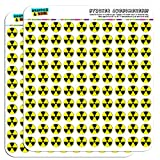"""Graphics and More 1.3 cm """"Radioactive Nuclear Warning Symbol"""" Scrapbooking Crafting Sticker"""