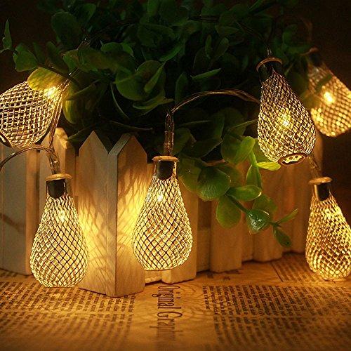 en Außen Garten Lichterkette Streifen Batteriebetrieben Dekorative Lichter für Party Hochzeit Weihnachten Halloween Dekoration, 10 lights/4.9ft ()