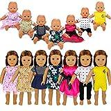 Miunana 7 Clothes Outfits Dresses Abiti Vestiti Per 36 CM - 42 CM (14 - 18 Pollici) Bambola Baby Doll, Bambola Bebé, American Girl Dolls, Amore Mio