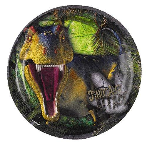 Amscan 990035318cm dinosaurio Ataque Platos de papel