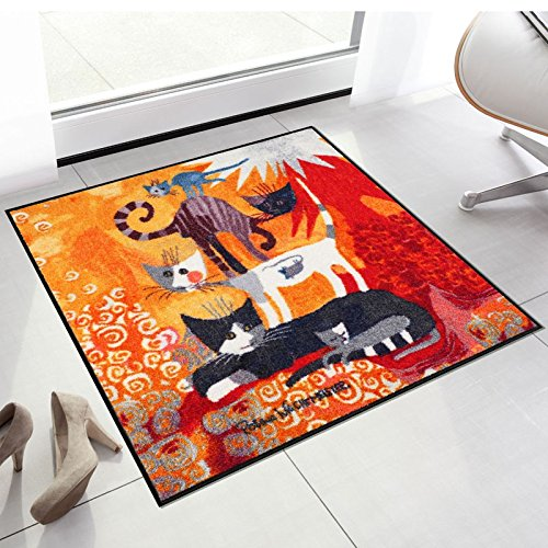 Salonloewe Rosina Wachtmeister Fußmatte Lifestyle Katzenturm 85x85 cm SLD0871-085x085