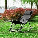 fauteuil bascule pliant avec repose pieds en alu rocking chair transat de jardin chaise. Black Bedroom Furniture Sets. Home Design Ideas