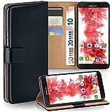 moex Samsung Galaxy S7 Edge | Hülle Schwarz mit Karten-Fach 360° Book Klapp-Hülle Handytasche Kunst-Leder Handyhülle für Samsung Galaxy S7 Edge Case Flip Cover Schutzhülle Tasche