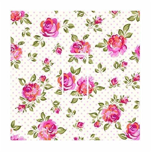 sticar-it LTD creme Polka Dot Shabby Chic Floral Muster Lichtschalter-Aufkleber Vinyl Cover Haut Aufkleber für jeden Raum