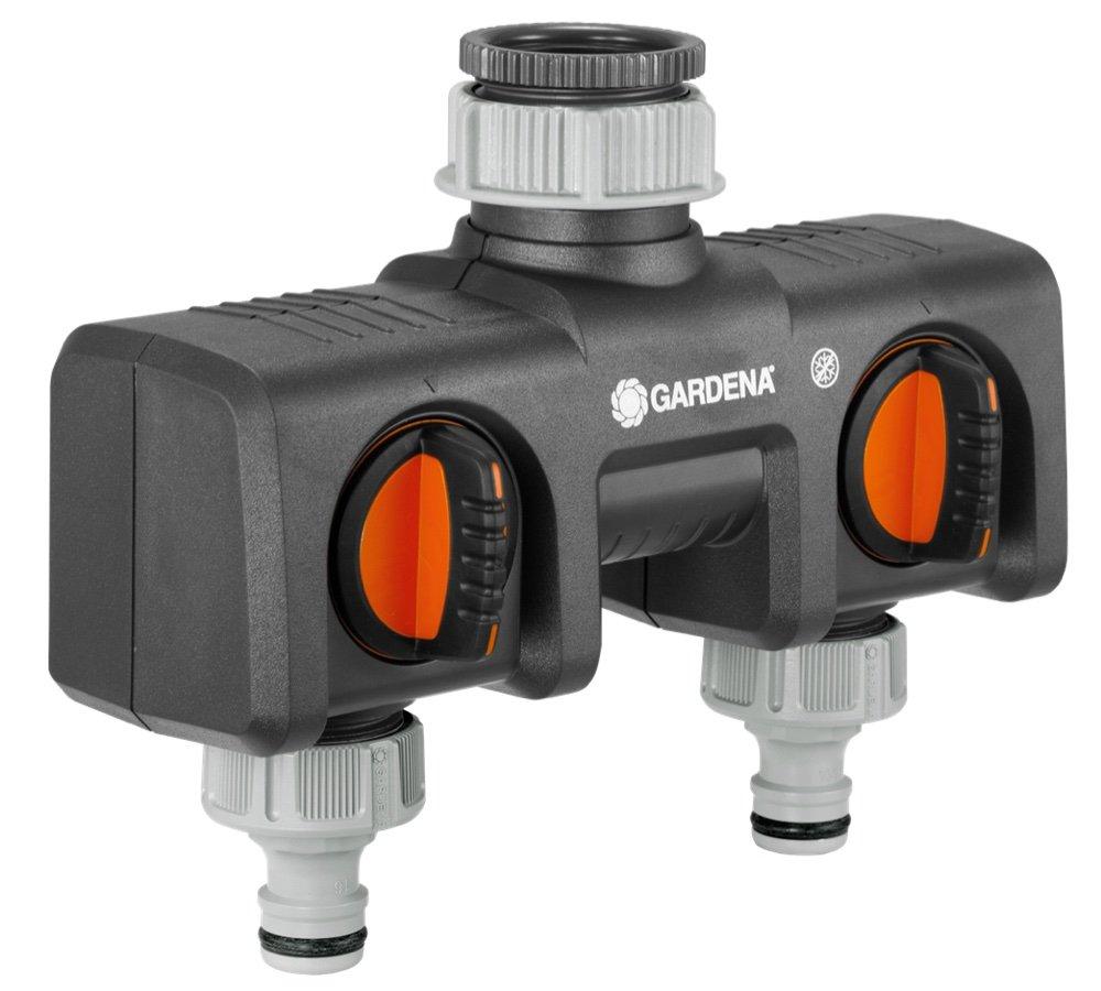 GARDENA 2-Wege-Verteiler & Schlauchverbinder-Satz 13 mm und 15 mm: Steckverbinder für den Schlauchanfang, schneller und einfacher Anschluss