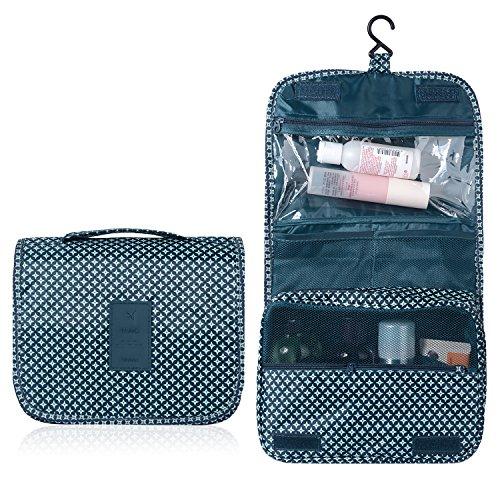 Emwel appeso Toiletry Organizer Travel trousse per donne e uomini - perfetto per viaggio / all'aperto (Blu scuro)