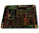Dios de la muerte personalizado diseño único Durable impresión ratón en forma de Rectangular, poliéster, 1Circuit Board, 1 Magical panel