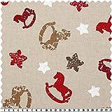 Canvas-Druck, Weihnachtsmotive/Sterne/Pferde, mehrfarbig,