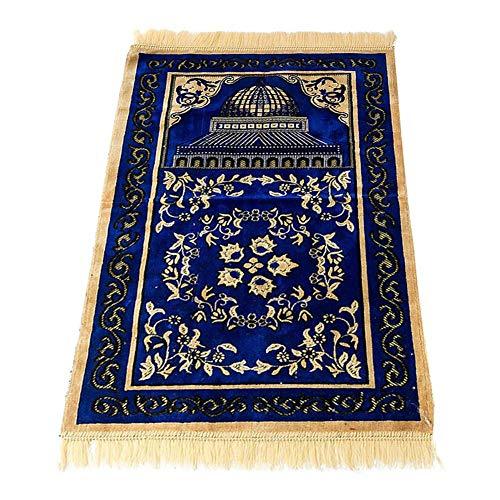 dewdropy Chenille Muslim Gebet Anbetung Teppich Retro Fußmatten Weiche Baumwolle Islamischen Gebetsteppich 70 cm 110 cm - Islam-teppich