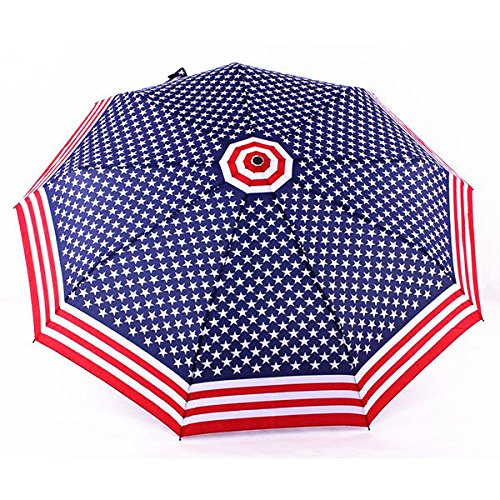Bazaar American Flag Automatische Falten Regenschirm Stars and Stripes Winddichte Outdoor Sun / Rain Sonnenschirm -