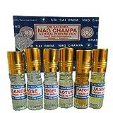 Duftöl Sri Sai Baba Nag Champa 6er Mischpack 3ml Aroma