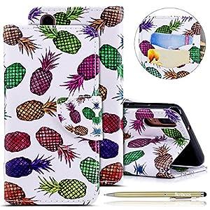 Hülle für Huawei P20,Handytasche Bunt Handyhülle Flip Tasche Schutzhülle