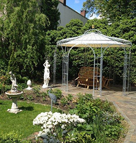 ELEO Florenz runder Gartenpavillon aus Metall mit Sonnensegel, Ø 3,7 Meter (Oberfläche: feuerverzinkt) - 9