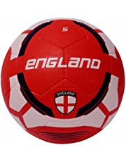 Vector X England Rubber Moulded Football, (White/Maroon)