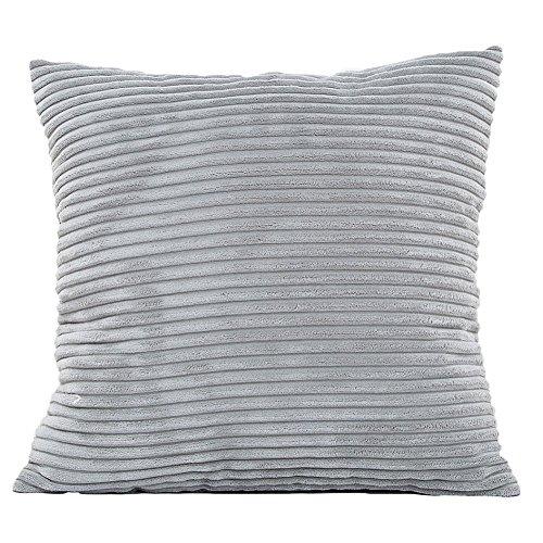 bigboba Plüsch Kissenbezüge Mais mit Sofa Bett Haushalt Kissenbezüge Kissen Corduroy, grau, 45 x 45 cm - Grau Cord
