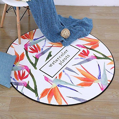 The harvest season- Chambre moderne minimaliste fauteuil de chaise d'ordinateur chaises en rotin coussins, tapis circulaire européen, salon table basse table tapis ( Couleur : Orange , taille : 80cm )