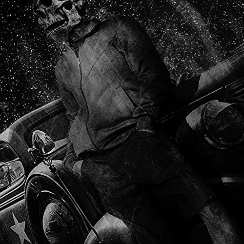 Jahrgang Auto Tod Schädel Zombie Kunst Damen Schwarz S-2XL Muskelshirt | Wellcoda Schwarz