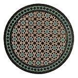 Casa Moro Mosaiktische Gartentische Gartenmöbel Mosaik Tisch aus Marokko Beistelltisch Ø 60 cm M60-42