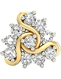 PC Jeweller The Nirina 18KT Yellow Gold and Diamond Nose Pin for Women