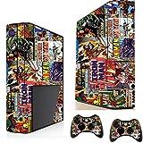 Comics Superhelden-Sticker/Skin Xbox 360E Konsole und Fernbedienung Controller Aufkleber, xsk8