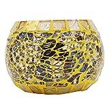 Artesanal Mosaico de vela de cristal sostenedor del soporte Tealight Votiva Holder Decoración del hogar