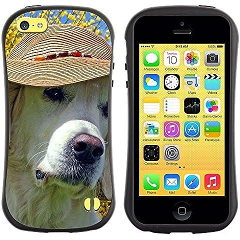 Super Galaxy iFace Slim Fit Seriesdual Layer Rigida Protettiva Custodia Case // V00003514 labrador che porta il cappello spiaggia // Apple iPhone