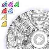 20m 480 LED Lichterschlauch Lichtschlauch kalt-weiß – Innen- und Außenbereich – energiesparende Leucht-Dekoration für Garten Fest Weihnachten Hochzeit Gesamtlänge ca. 21,50 m