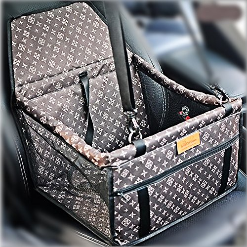 Haustier Hund Autositz Booster Carrier Protector Tasche Käfig Abdeckung Systond Waterproof Deluxe Portable Hund Booster Reise Carrier Cover Seat Protector mit Clip-On Sicherheit Lesh (Carrier Pet Deluxe)