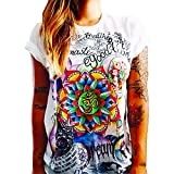 Talla S - T-Shirt - Camiseta - Namaste - Yin Yang - Adultos - Mujer - Hombre - Unisex - Color Blanco - Om Mandala Fior di Lotus Idea de Regalo
