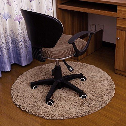 Chenille Kinder-stühle (MOMO Teppich Computer Stuhl Matte Schlafzimmer Home Teppich Schlafzimmer Matte Drehstuhl Mat Runde Matte Teppich,A-100CM)