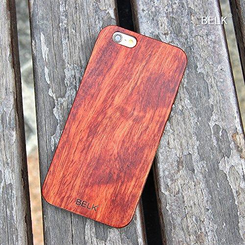 "iPhone 6 Plus Fall, iPhone 6 Plus Hard Case, BELK 2. Gene ""FLEX Edge"" Series Soft Gel-seitig [Einfache Snap-On] Laub Fälle mit Durable Verstärkte PC-Hybrid Back for iPhone 6 Plus - 5,5 Zoll, Bambus 1-dewood"