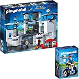 PLAYMOBIL® City Action 2er Set 6872 6877 Polizei-Kommandozentrale mit Gefängnis + Polizistin mit Balance-Racer