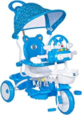 Mee Mee Premium Baby Tricycle with Adjustable Seat (Blue)