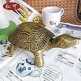 Große kreative Aschenbecher mit Deckel vertikale Mode Persönlichkeit senden Freund geschickt ältesten Langlebigkeit Schildkröte , large bronze (autique gold)