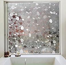 Lifetree Selbstklebend ohne Klebstoff Fensterfolie 90 * 200CM Milchglasfolie