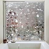 Aingoo Fenster Tür Dekorfolie Kieselstein Fensterfolie für Türen Badezimmer Sichtschutzfolie...
