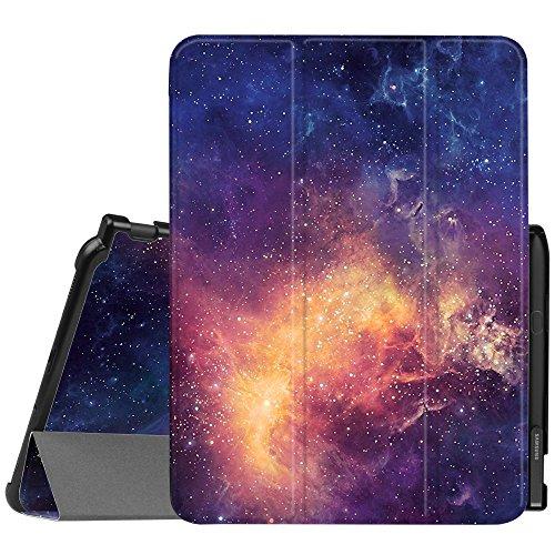 Fintie Hülle für Samsung Galaxy Tab S3 T820 / T825 (9,68 Zoll) Tablet-PC - Ultra Schlank Ständer Schutzhülle Cover Case mit Auto Schlaf/Wach Funktion und eingebautem S Pen Halter, Die Galaxie (Case S3 Für Galaxy Clip-on)