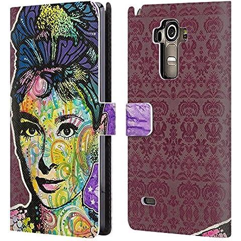Ufficiale Dean Russo Audrey 2 Iconico 2 Cover a portafoglio in pelle per LG G4 (Oggi Ritratti)