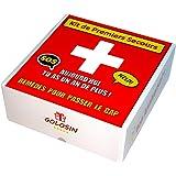 Cadeau anniversaire original. Remèdes pour passer le cap. Boite à pharmacie avec 10 imitations de médicaments. Contient des b
